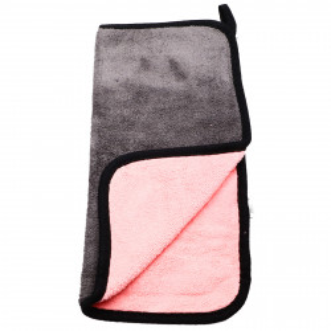 Laveta din microfibra, absorbanta, pentru toate suprafetele, 30 x30 cm, Gri cu roz