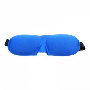 Masca pentru dormit, reglabila, 23 x 9 cm, Albastru