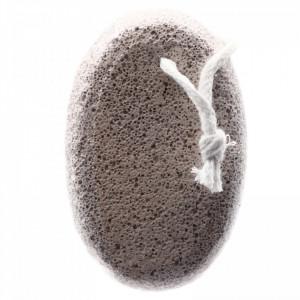 Piatra ponce, pentru ingrijire calcaie, model oval, 9.5 x 6 x 2.8 cm, Alb