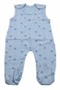 Salopeta bebe tip maieu, Imprimeu bleu cu Mickey, 3 - 6 luni, SM36SM4