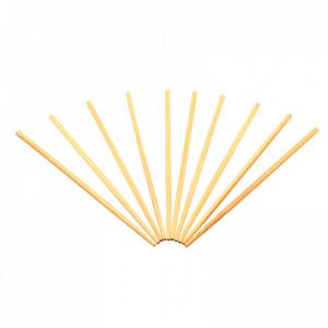Set 10 bucati, Betisoare din bambus pentru servire / Sushi, 24 cm