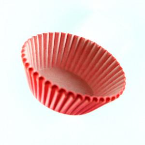 Set 100 bucati, forme de copt din hartie pentru briose, 8cm, Rosu