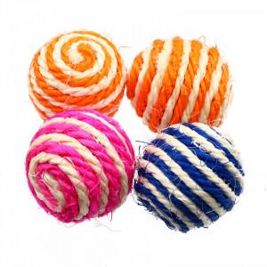Set 4 bucati, Jucarii pentru pisica, tip minge, Multicolor