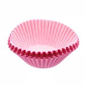 Set 50 bucati, forme de copt din hartie pentru briose, 10cm, Roz