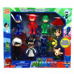 Set 6 figurine PJ Masks, eroii in pijamale cu accesorii incluse