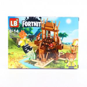 Set de constructie Lego, Batalia Baiatului Neinfricat tip Fortnite 82 Piese