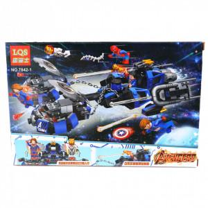 Set de constructie Lego, Super Eroii Avengers, set 4 cutii diferite, 530 Piese