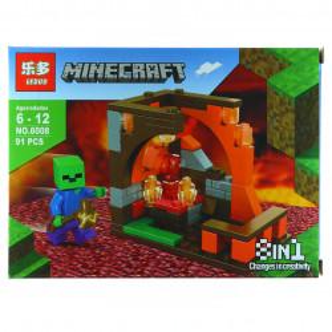 Set de constructie, tip Minecraft, Locul de colectie al diamantelor, 91 piese