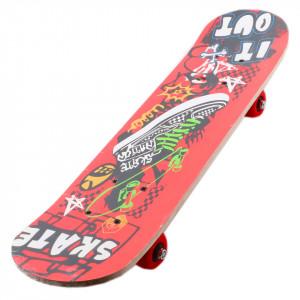Skateboard pentru copii, 59 x 15 x 10cm, S-2, Rosu