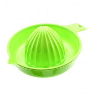 Storcator pentru citrice, din plastic cu maner, Verde