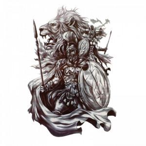 Tatuaj temporar, Eroii de la termopile, GF1010, 14 x 9 cm
