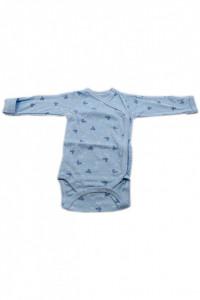 Body copii cu maneca lunga si manusi, Imprimeu bleu cu Mickey, 3 - 6 luni, BM36BM10