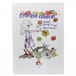 """Carte de colorat cu poiezii pentru parinti si copii """"Crangul colorat"""", coperta cartonata, 30 x 21.5 cm, Multicolor"""