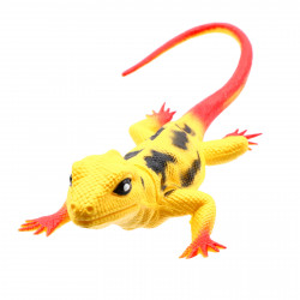 Figurina Reptila, Gecko, Galben, 25 cm