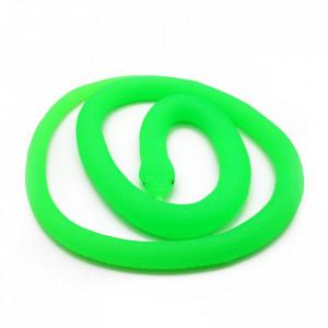 Figurina, Sarpe de jucarie, imitatie real, Verde fosforescent, 90 cm