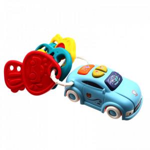 Jucarie bebelusi masina cu 4 sunete diferite si 3 jucarii aditionale, Multicolor