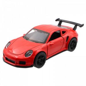 Masinuta diecast, Porsche 911 cu baterie si lumini, Rosu, 3611A