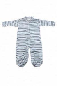 Salopeta bebe cu botosi, Imprimeu dungi bleu albastru, 6 - 9 luni, SB69SB8
