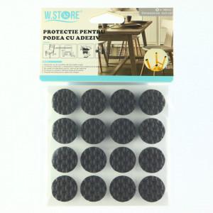 Set 16 bucati, Protectie Antialunecare pentru podea cu adeziv, rotund, 2x2cm