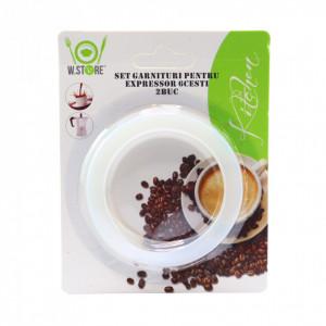 Set 2 garnituri din cauciuc espresso, 6 cesti, 7 cm