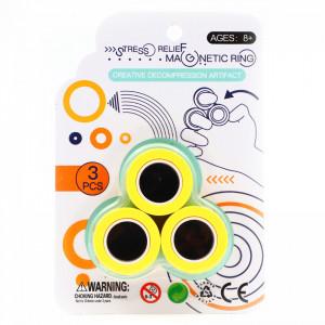 Set 3 inele magnetice antistres, Galben