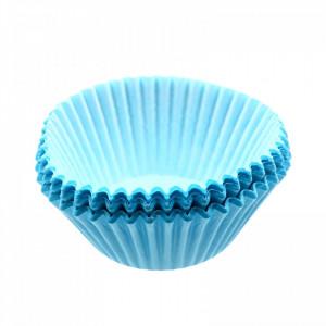 Set 50 bucati, forme de copt din hartie pentru briose, 10cm, Bleu