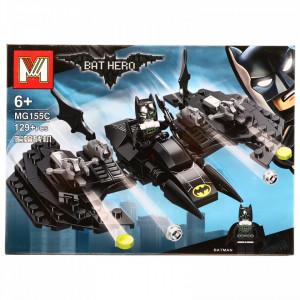Set de constructie, Batman si Batmobilul zburator, 129 piese