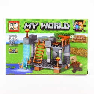 Set de constructie, Fortareata de langa lac tip Minecraft, 123 Piese