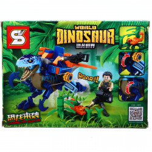 Set de constructie, Lumea dinozaurilor Jurassic si dinozaurul cu arme imbatabile, 148 piese