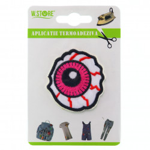 Aplicatie termoadeziva, ochi roz