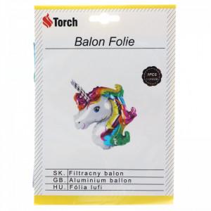Balon folie, Unicorn, 110 x 80 cm, Multicolor