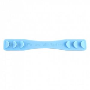 Banda silicon de prindere pentru masti de protectie, Albastru