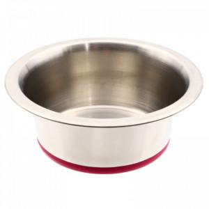 Bol pentru pisici sau caini, din inox, 13 cm, Roz