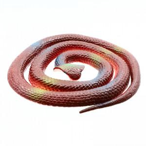 Figurina, Sarpe King Cobra de jucarie, imitatie real, Maro, 80 cm