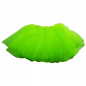 Fusta tutu pentru fetite, 3 straturi tul, 35 cm, Verde neon