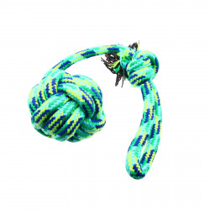 Jucarie pentru caini de talie mare, franghie cu minge, Verde