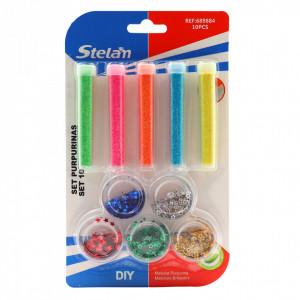 Set 10 buc, Glitter sclipici, Stelan, Multicolor