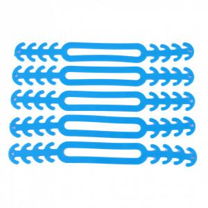Set 10 bucati banda silicon cauciucat de prindere pentru masti de protectie, Albastru