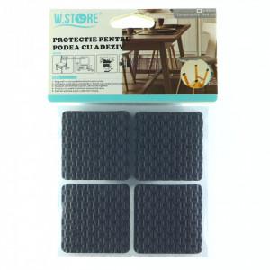 Set 4 bucati, Protectie Antialunecare pentru podea cu adeziv 4x4cm