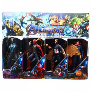 Set 4 Figurine Avengers, Doctor Strange, Captain America, Spider Man, Black Panther