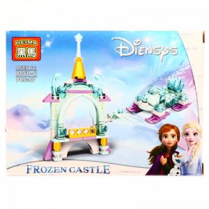 Set de constructie, Frozen si balconul de gheata, 87 piese