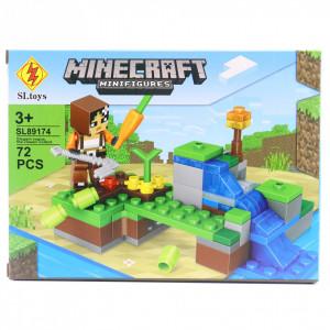 Set de constructie Lego, Morcovul urias tip Minecraft, 72 Piese