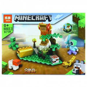 Set de constructie, tip Minecraft, Gradina magica, 97 piese