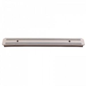 Suport din magnet pentru cutite de bucatarie, cu prindere in perete, 25 x 5 cm, Gri inchis
