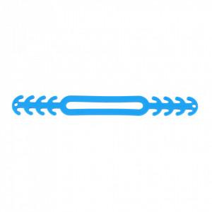 Banda silicon cauciucat de prindere pentru masti de protectie, Albastru