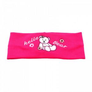Bentite pentru fete, cu imprimeu ursulet, Roz aprins