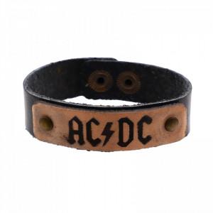 Bratara din piele, AC/DC, 20 x 1,7 cm