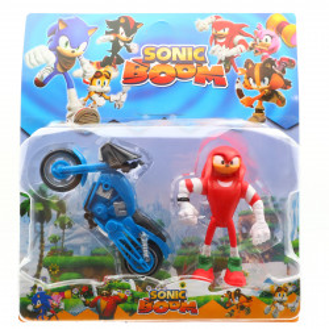 Figurina cu motocicleta, Sonic Boom, 12 cm, SB-1