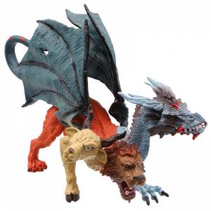 Figurina Dragonul cu 3 capete, 18 cm