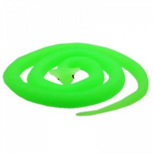 Figurina, Sarpe King Cobra de jucarie, imitatie real, Verde fosforescent, 80 cm